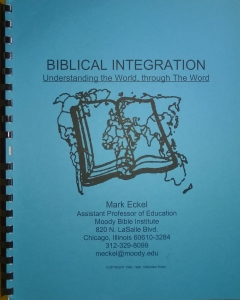 Biblical Integration..