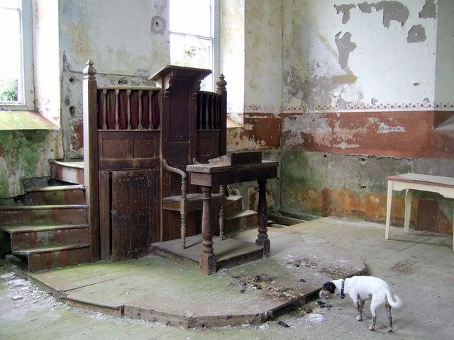 Church altar decaying